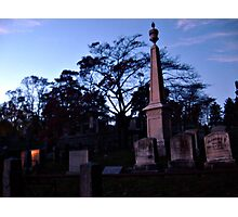 Fire and Stone, Sleepy Hollow Cemetery, Sleepy Hollow NY Photographic Print