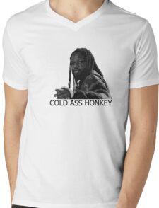 COLDASSHONKEY Mens V-Neck T-Shirt