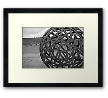 Metal ball Framed Print