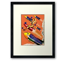 rock it to the moon! Framed Print