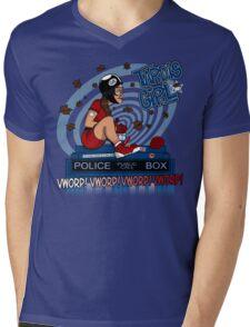 Tardis Girl Mens V-Neck T-Shirt