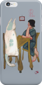 iphone Kitty Case by jacinta stephenson as cint clare by suitgraphic