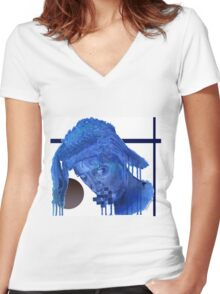 HeathenSoul Women's Fitted V-Neck T-Shirt