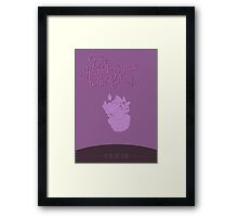 Oh, no, not again. Framed Print