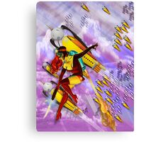 space ship invasion zapgun jetgirl Canvas Print