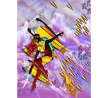 space ship invasion zapgun jetgirl Photographic Print