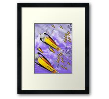 space ship invasion squadron  Framed Print