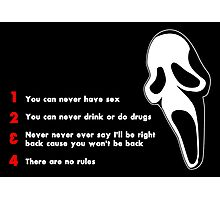 Scream: Randy's rules Photographic Print