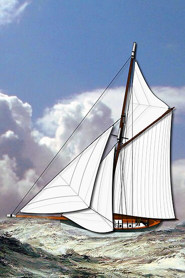 Pilot Cutter 19th century by Dennis Melling