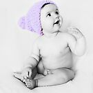 Cute Purple Beanie by Cherie Vivar