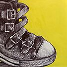 Yellow Leather Buckles and a Tin Can by Charlie-R