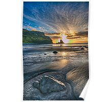 Sunset at Talisker Bay Poster