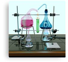 Impossible chemistry experiment Canvas Print