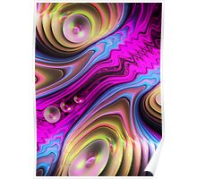 The Stream, abstract fractal wallart Poster