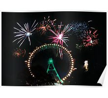 Fireworks at the fairest wheel Poster