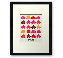 Love Ass Valentine Hearts Framed Print