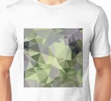 Asparagus Green Abstract Low Polygon Background Unisex T-Shirt