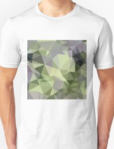 Asparagus Green Abstract Low Polygon Background T-Shirt