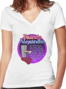 Brandy Alexander recipe by Valxart   Women's Fitted V-Neck T-Shirt
