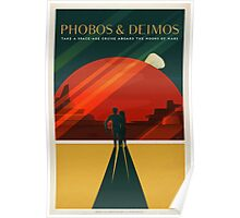 Moons of Mars Travel Poster Poster