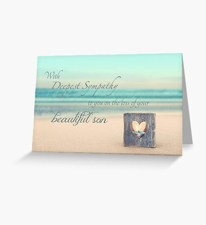The Loss of a Son Greeting Card
