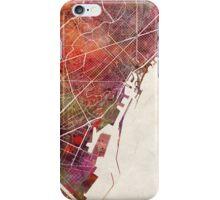 Barcelona map iPhone Case/Skin