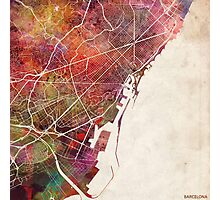 Barcelona map Photographic Print