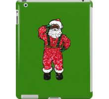 glitter black santa claus iPad Case/Skin