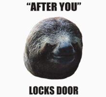 Evil Sloth Locks Door by chuzwuzza