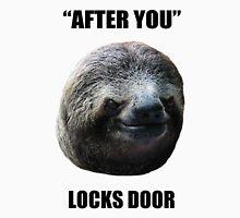 Evil Sloth Locks Door T-Shirt