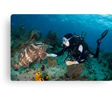 Welcome to the Reef Canvas Print