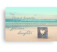 The Loss of a Daughter Canvas Print