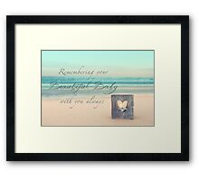 Remembering Your Baby Framed Print