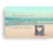 Remembering Your Baby Canvas Print