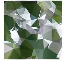 Castleton Green Abstract Low Polygon Background Poster