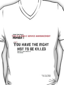 """Know Your Rights"" The Clash (Number 1) T-Shirt"