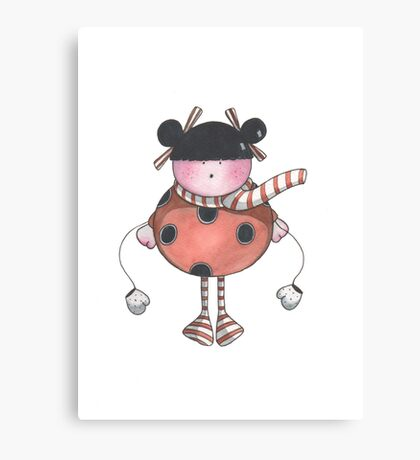 Lily Ladybird Canvas Print