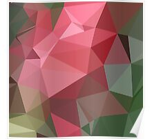 Congo Pink Abstract Low Polygon Background Poster