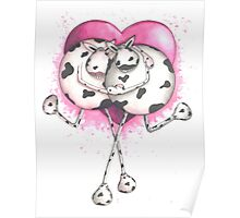 Udderly in Love Cow Poster