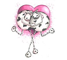 Udderly in Love Cow Photographic Print