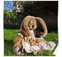 Mama Rabbit In The Garden Poster