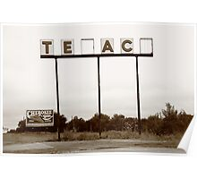 Route 66 - Abandoned Texaco Station Poster