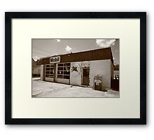 Route 66 - Rusty Mobil Station Framed Print