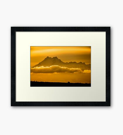 The Floating Mountain Framed Print