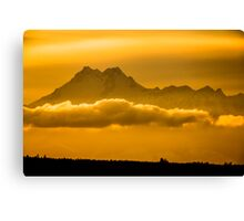 The Floating Mountain Canvas Print