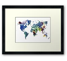 World map cosmos Framed Print