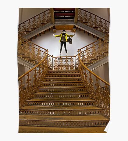 Gilded Staircase Poster