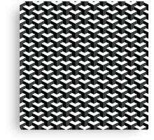 Black and White Cube Pattern 3D Effect Canvas Print