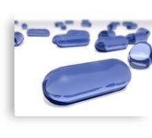 Blue Gel Cap Pills Illustration Canvas Print