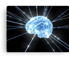 Brain Glow Energy Canvas Print